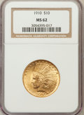 Indian Eagles: , 1910 $10 MS62 NGC. NGC Census: (1940/1572). PCGS Population(1575/1273). Mintage: 318,500. Numismedia Wsl. Price for proble...