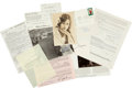 Memorabilia:Movie-Related, Movie Related Celebrity Autographed Group (1930s-80s)....