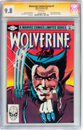 Modern Age (1980-Present):Superhero, Wolverine Limited Series #1 Signed by Stan Lee (Marvel, 1982) CGCSignature Series NM/MT 9.8 White pages....