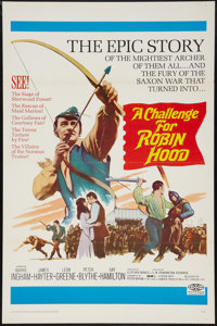 """A Challenge for Robin Hood & Other Lot (20th Century Fox, 1967). One Sheets (2) (27"""" X 41"""") Flat Folde..."""