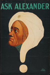 """Ask Alexander (Unknown, 1920s). Magic Poster (27.5"""" X 41""""). Miscellaneous"""