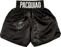 Boxing Collectibles:Autographs, Manny Pacquiao Signed Boxing Trunks. ...