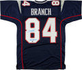 """Football Collectibles:Uniforms, Deion Branch """"SB 39 MVP"""" Signed New England Patriots Jersey...."""