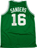 "Basketball Collectibles:Uniforms, Tom ""Satch"" Sanders Signed Boston Celtics Jersey...."