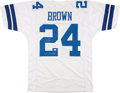 """Football Collectibles:Uniforms, Larry Brown """"SB XXX MVP"""" Signed Dallas Cowboys Jersey...."""