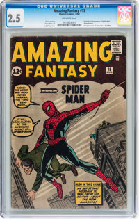 Amazing Fantasy #15 (Marvel, 1962) CGC GD+ 2.5 Off-white pages