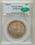 Commemorative Silver: , 1936-S 50C Arkansas MS66 PCGS. CAC. PCGS Population (120/9). NGCCensus: (71/8). Mintage: 9,662. Numismedia Wsl. Price for ...