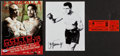 Boxing Collectibles:Autographs, Max Schmeling and Other Boxing Greats Signed and Unsigned Memorabilia Lot of 3....