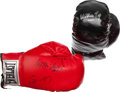Boxing Collectibles:Autographs, Boxing Greats Signed Boxing Gloves Lot of 2....