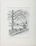 Books:Prints & Leaves, Mary Agnes Lansdowne. Print of Autumn in Virginia. Approx.11 x 8.5 inches. Matted. Fine....