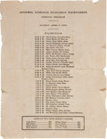 Golf Collectibles:Miscellaneous, 1935 The Masters Sunday Pairing Sheet....