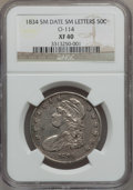 Bust Half Dollars, 1834 50C Small Date, Small Letters XF40 NGC. 0-114. PCGS Population(93/700). (#6166)...