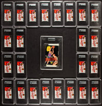 1969-70 Topps Basketball Counter Display Wax Box With 24 High Graded Unopened Packs!