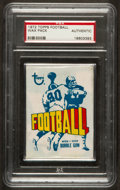 Football Cards:Singles (1970-Now), 1972 Topps Football Pack PSA Authentic. ...