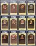 Autographs:Post Cards, Baseball HoF Yellow Plaque Post Cards PSA/DNA Collection (12). ...