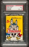 "Non-Sport Cards:Unopened Packs/Display Boxes, 1965 Donruss ""Disneyland"" Unopened Wax Pack PSA Mint 9. ..."