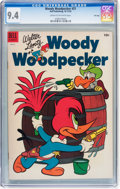 Golden Age (1938-1955):Cartoon Character, Woody Woodpecker #21 File Copy (Dell, 1953) CGC NM 9.4 Cream tooff-white pages....