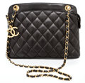 Luxury Accessories:Bags, Heritage Vintage: Chanel Black Quilted Lambskin Flap Bagwith Gold Hardware. ...