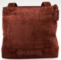 Luxury Accessories:Bags, Heritage Vintage: Chanel Chocolate Suede Tote. ...