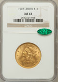 Liberty Eagles: , 1907 $10 MS63 NGC. CAC. NGC Census: (5686/1135). PCGS Population(3399/637). Mintage: 1,203,973. Numismedia Wsl. Price for ...