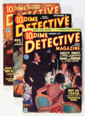 Pulps:Detective, Dime Detective Magazine '34 Group (Popular, 1934) Condition: Average VG+.... (Total: 7 Items)