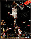 Basketball Collectibles:Photos, Derrick Rose Signed Oversized Photograph. ...