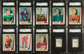 Hockey Cards:Lots, 1969/70 O-Pee-Chee SGC-Graded Collection (24 Cards &Stamps)....