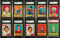 Hockey Cards:Lots, 1972/73 O-Pee-Chee SGC-Graded Collection (38 Cards, Stickers &Team Canada). ...