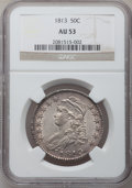 Bust Half Dollars: , 1813 50C AU53 NGC. NGC Census: (34/488). PCGS Population (46/200).Mintage: 1,241,903. Numismedia Wsl. Price for problem fr...