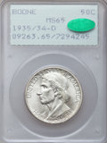Commemorative Silver: , 1935/34-D 50C Boone MS65 PCGS. CAC. PCGS Population (238/227). NGCCensus: (151/177). Mintage: 2,003. Numismedia Wsl. Price...