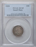 Bust Dimes: , 1828 10C Small Date XF45 PCGS. PCGS Population (4/47). NGC Census:(4/28). Mintage: 125,000. (#4510). From The Norva Col...