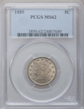 Liberty Nickels: , 1889 5C MS62 PCGS. PCGS Population (39/444). NGC Census: (44/459).Mintage: 15,881,361. Numismedia Wsl. Price for problem f...