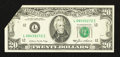 Error Notes:Foldovers, Fr. 2075-L $20 1985 Federal Reserve Note. Extremely Fine.. ...