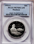 Modern Issues: , 1993-S 50C Bill of Rights Half Dollar PR70 Deep Cameo PCGS. PCGSPopulation (32). NGC Census: (0). Mintage: 559,758. Numism...