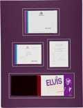 Music Memorabilia:Memorabilia, Elvis Presley International Hotel Opening Night Invitation(1969)....