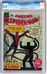 The Amazing Spider-Man #3 (Marvel, 1963) CGC VF 8.0 Off-white to white pages