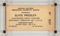 Music Memorabilia:Tickets, Elvis Presley Memphis Charity Show Ticket (1961)....