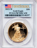 Modern Bullion Coins, 2012-W $50 One-Ounce Gold Eagle, First Strike PR70 Deep Cameo PCGSPCGS Population (231). NGC Census: (0). (#512112)...