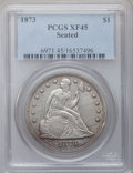 Seated Dollars: , 1873 $1 XF45 PCGS. PCGS Population (25/134). NGC Census: (6/116).Mintage: 293,000. Numismedia Wsl. Price for problem free ...