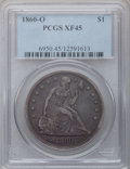 Seated Dollars: , 1860-O $1 XF45 PCGS. PCGS Population (74/928). NGC Census:(40/606). Mintage: 515,000. Numismedia Wsl. Price for problem fr...