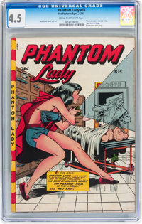 Phantom Lady #15 (Fox Features Syndicate, 1947) CGC VG+ 4.5 Cream to off-white pages