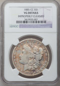Morgan Dollars: , 1885-CC $1 -- Improperly Cleaned -- NGC Details. VG. NGC Census: (2/8848). PCGS Population (13/18077). Mintage: 228,000. Nu...