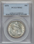 Seated Half Dollars: , 1878 50C MS62 PCGS. PCGS Population (14/46). NGC Census: (9/36).Mintage: 1,378,400. Numismedia Wsl. Price for problem free...
