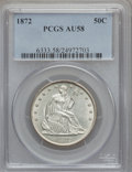 Seated Half Dollars: , 1872 50C AU58 PCGS. PCGS Population (5/33). NGC Census: (9/20).Mintage: 880,600. Numismedia Wsl. Price for problem free NG...