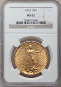 Saint-Gaudens Double Eagles: , 1915 $20 MS62 NGC. NGC Census: (713/775). PCGS Population(577/898). Mintage: 152,050. Numismedia Wsl. Price for problemfr...