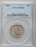 Liberty Nickels: , 1894 5C MS62 PCGS. PCGS Population (29/306). NGC Census: (27/210).Mintage: 5,413,132. Numismedia Wsl. Price for problem fr...