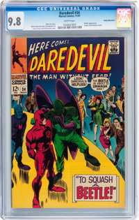 Daredevil #34 Rocky Mountain pedigree (Marvel, 1967) CGC NM/MT 9.8 White pages
