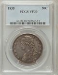 Bust Half Dollars: , 1835 50C VF30 PCGS. PCGS Population (36/790). NGC Census: (29/748).Mintage: 5,352,006. Numismedia Wsl. Price for problem f...