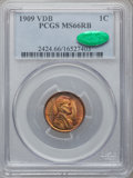 Lincoln Cents: , 1909 VDB 1C MS66 Red and Brown PCGS. CAC. PCGS Population (147/3).NGC Census: (232/24). Mintage: 27,995,000. Numismedia Ws...