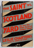 Books:Mystery & Detective Fiction, Leslie Charteris. The Saint Vs. Scotland Yard. Crime Club,1932. First edition, first printing. Jacket sunned with c...